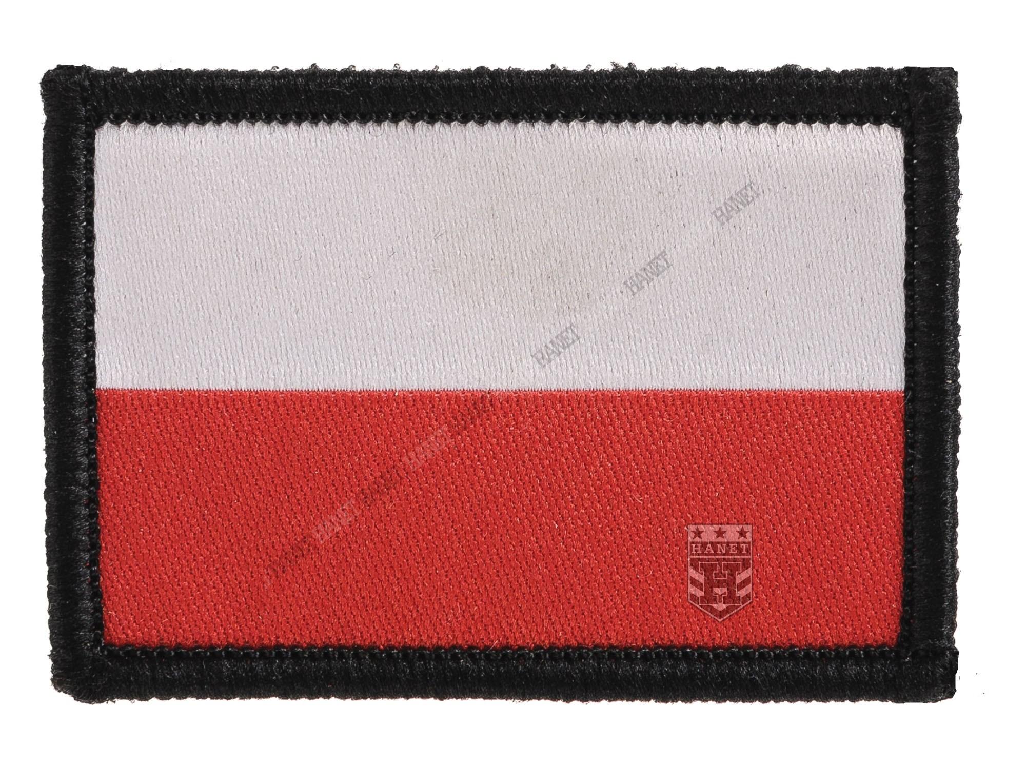 Dodatkowe Naszywka z Rzepem - Flaga Polski - Hanet PN37