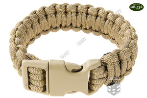 Bransoleta Paracord 22 mm / 23 cm / 310 cm - Coyote