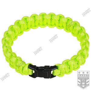 Bransoleta Paracord 15 mm / 20 cm / 225 cm - Green