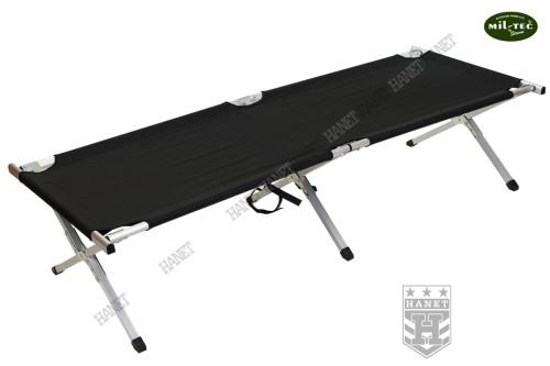 Wojskowe Składane łóżko Polowe Us Kanadyjka Czarne