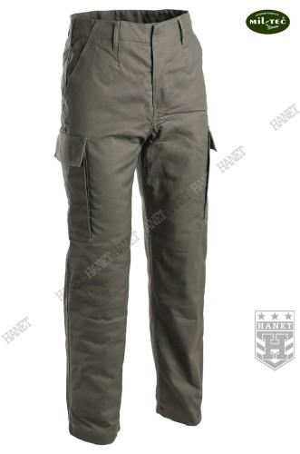 7ff2e38d1 Wojskowe Ocieplane Spodnie Zimowe BW Moleskin - Olive - Hanet